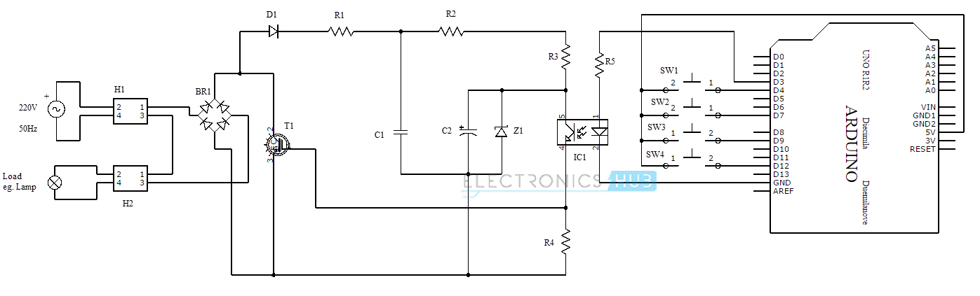 pwm fan wiring diagram pwm based ac power control using mosfet igbt pwm fan wiring