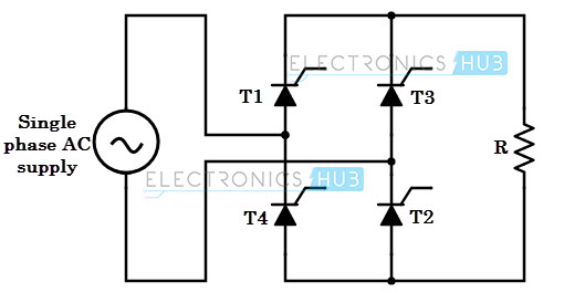full wave bridge rectifier circuit with working