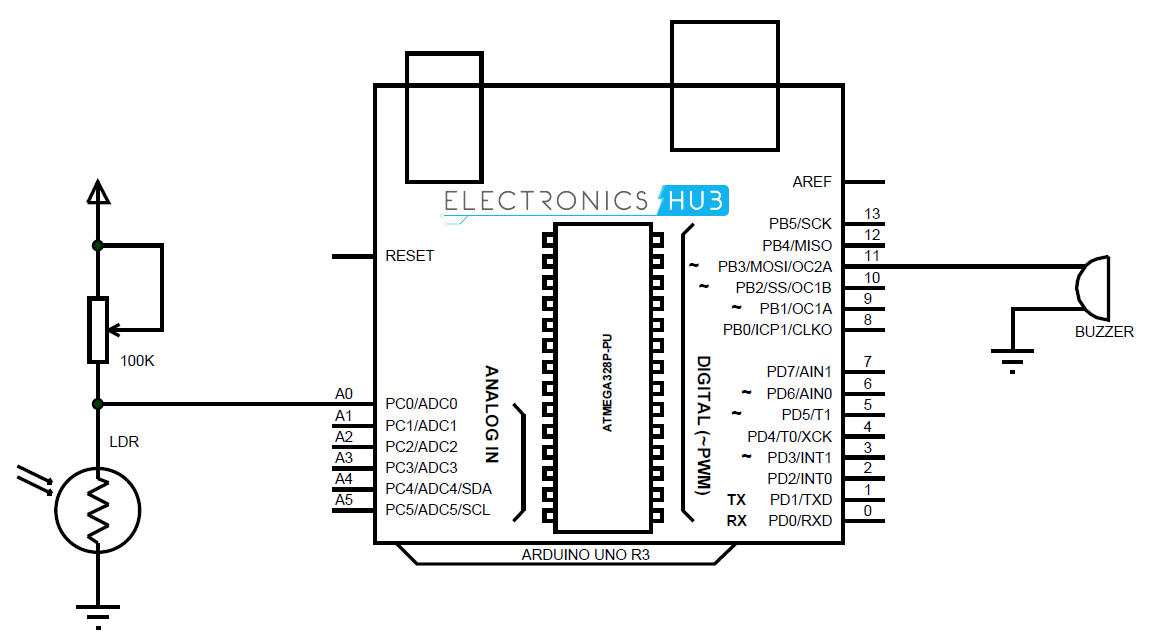 Photocell wiring diagram to arduino
