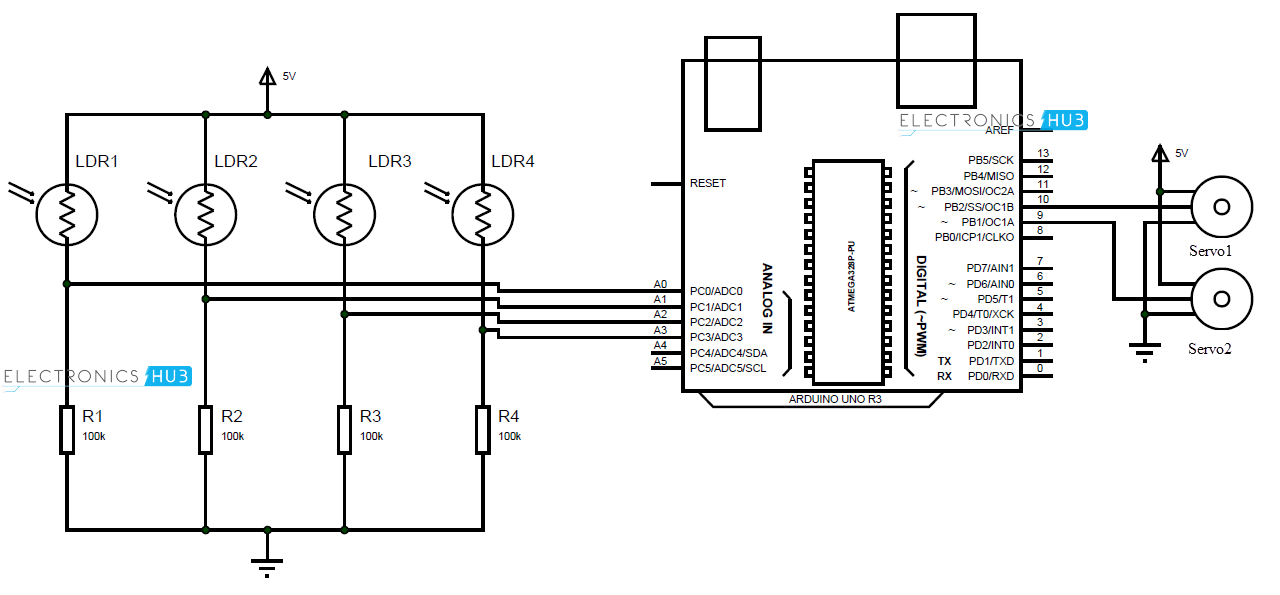 solar tracker circuit diagram the wiring diagram arduino solar tracker circuit diagram