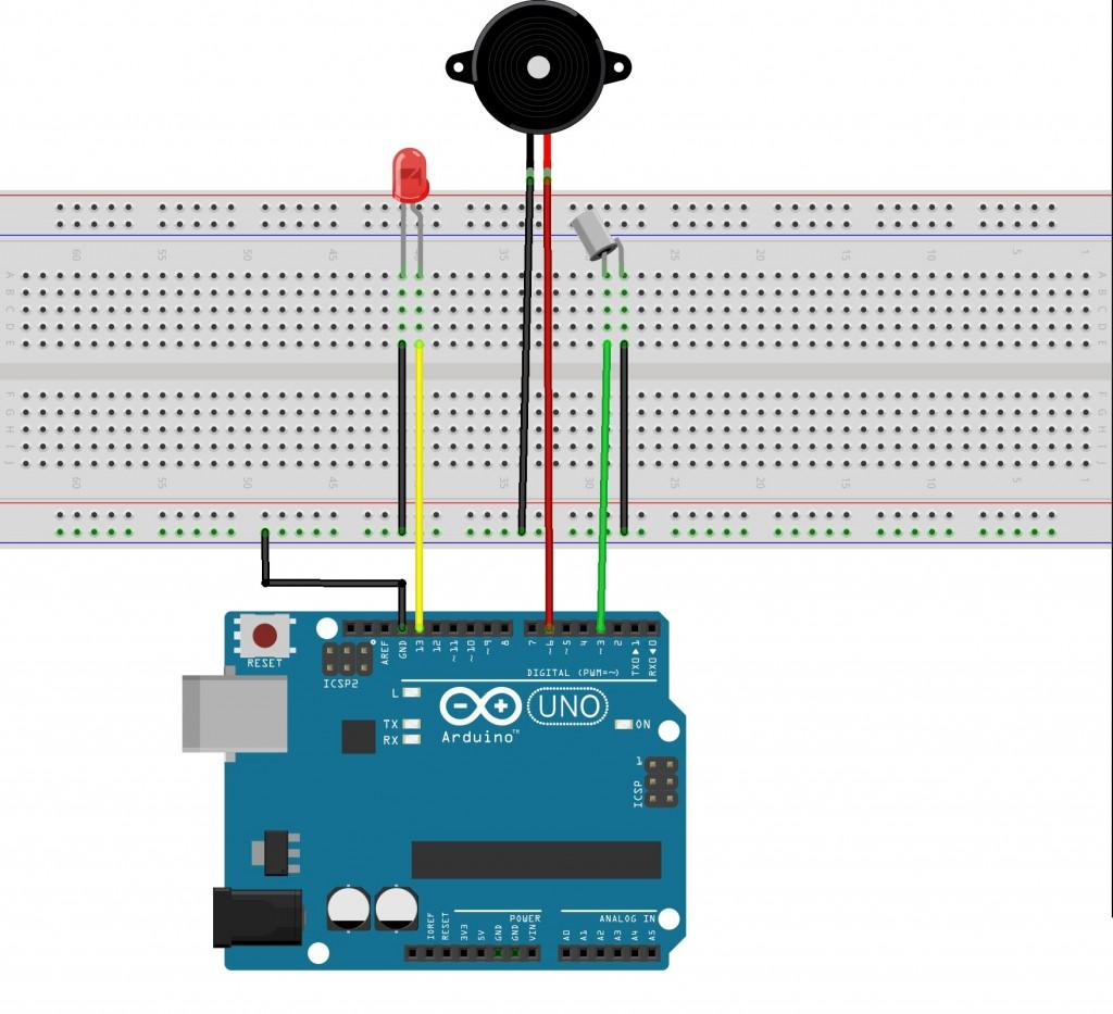 Arduino tilt sensor experiment