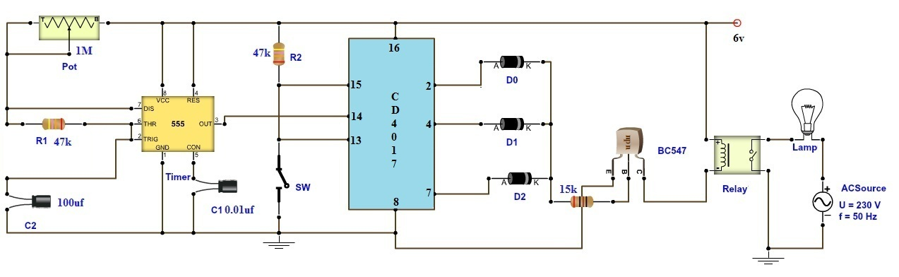 Adjustable Timer Circuit Diagram with Relay Output on defrost timer diagram, switch diagram, timer lights, model diagram, refrigeration timer diagram, magneto ignition system diagram, voltage diagram, timer schematic diagram, timer clock, sprinkler system diagram, belt diagram, timer relay diagram, noise diagram, digital intercom diagram, timer control diagram, dryer diagram, pnp diagram, npn transistor diagram, turbocharger diagram, drum diagram,