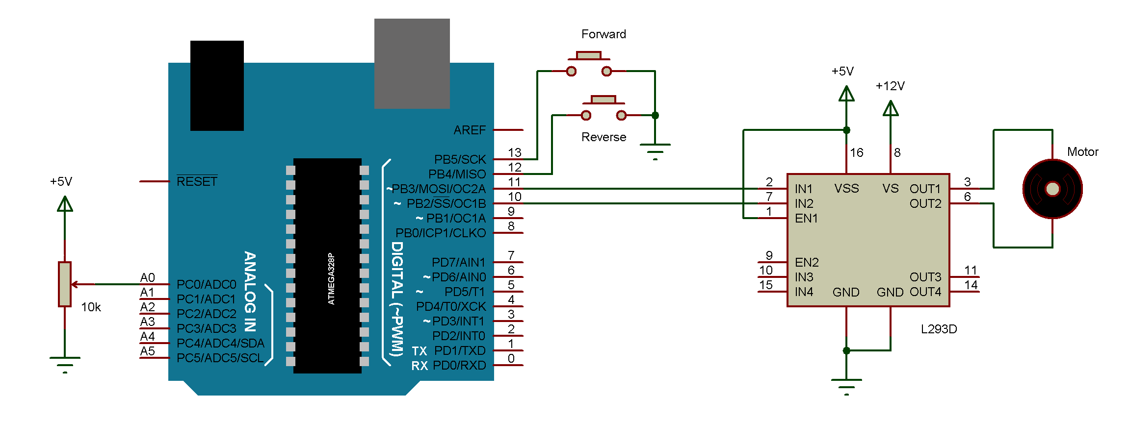 Dc motor control with arduino for Schematic diagram of dc motor