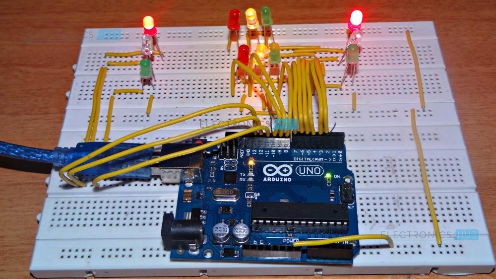 Circuit Diagram Of Traffic Light Controller
