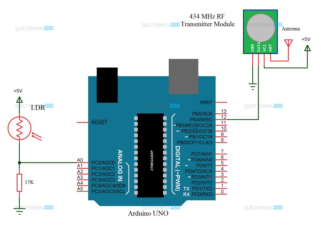 Arduino Mail Transmitter Circuit