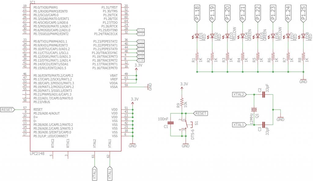 Blinking LEDs Circuit Diagram
