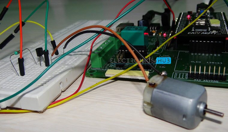 Speed Control of DC Motor using ARM7 LPC2148- 7