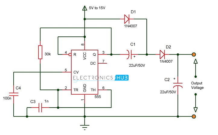 Voltage Doubler And Voltage Tripler Circuits