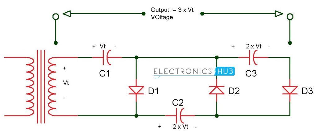 Voltage Tripler Circuit