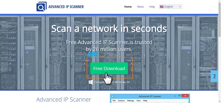 Advanced IP Scanner Download Page