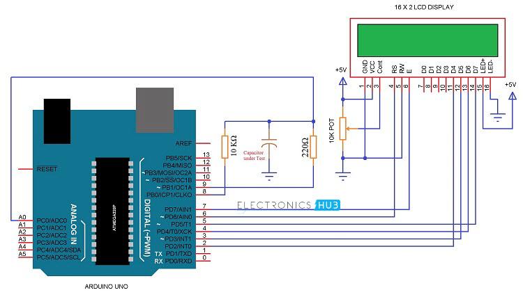 Arduino Capacitance Meter Circuit 1
