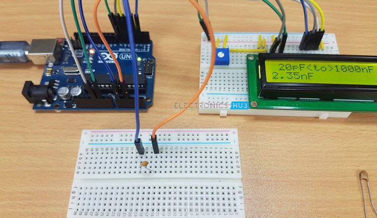 capacitance meter project Capacitors are one of the most common passive electrical components that are extensively used in all kinds of electronic circuits in this project, we will discuss a technique of building a digital capacitance meter using a pic microcontroller this project can measure capacitance values from 1 nf to 99 f, with a resolution of 1 nf the technique is based on measuring the time elapsed when a.