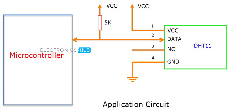 DHT11 Application Circuit