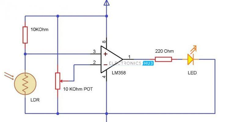 Light Detector using LDR