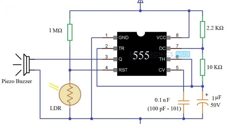 Darkness Detector using LDR