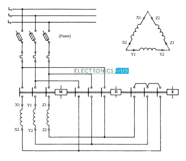 star delta starter for 3 phase motor star delta motor starter wiring diagram pdf star delta starter wiring diagram please