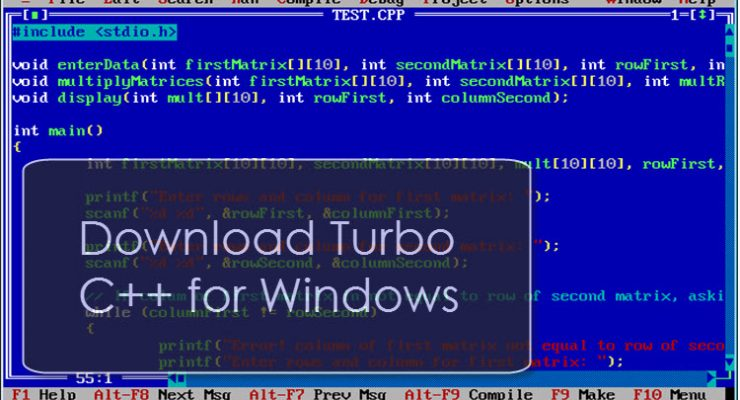 Download and Install Turbo C for Windows