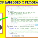 Basics of Embedded C Program