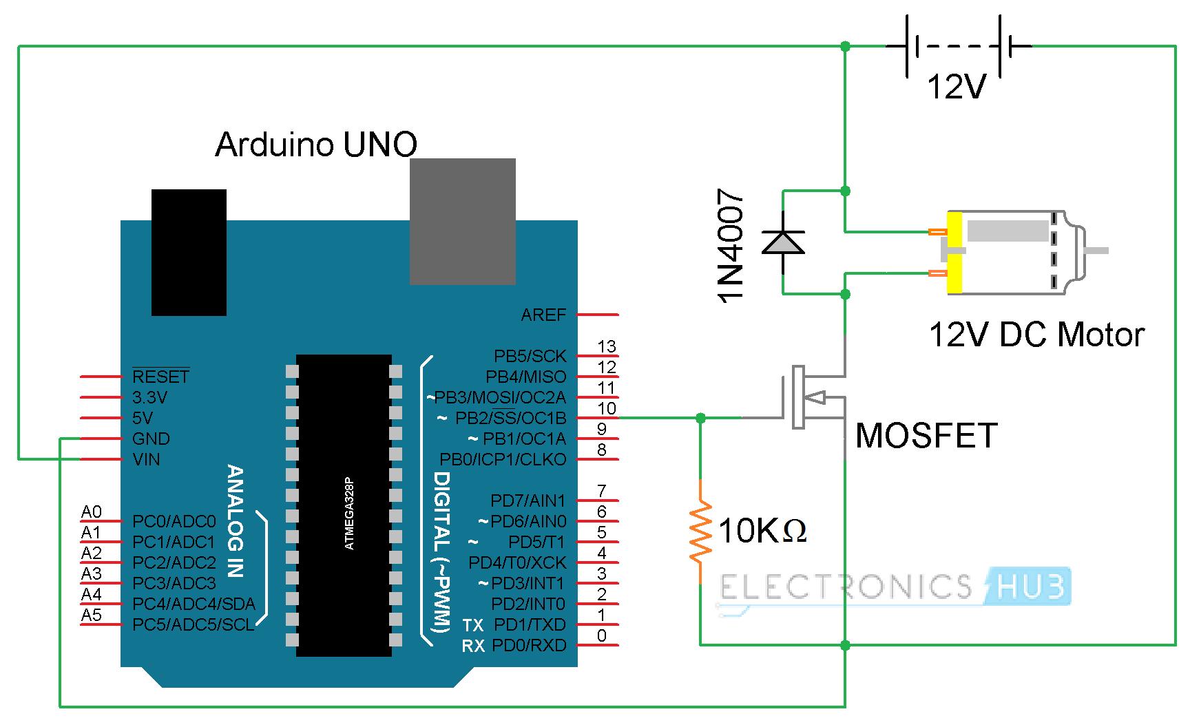 Pwm Dc Motor Driver Ic Speed Controller Circuit Using Ic556 Electronic Arduino Control L298n H Bridge Functional Block Diagram