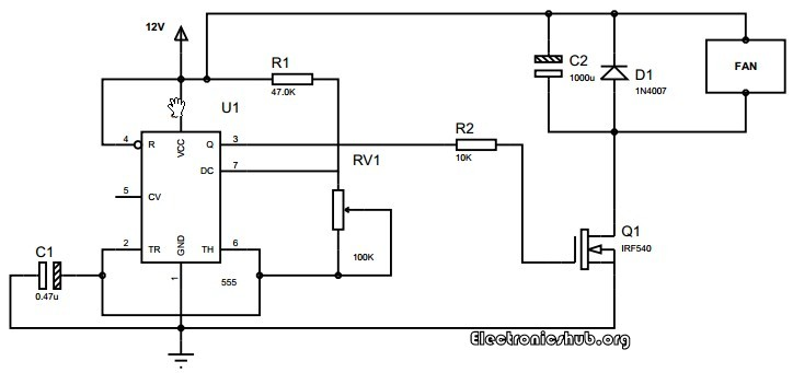 How To Control Speed Of Dc Motor Using Pwm And 555 Timer