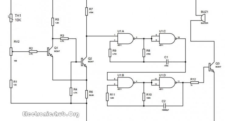 Temerature Sensor Circuit Diagram