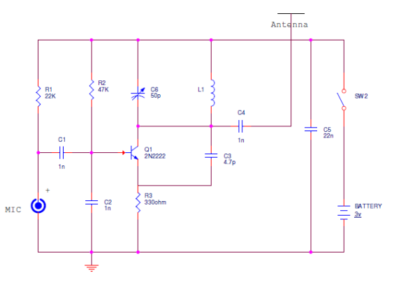 FM Bugger Circuit Diagram