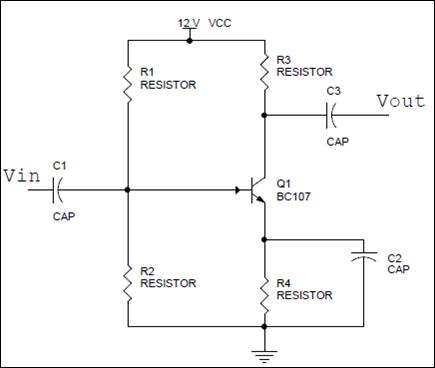Circuito amplificador acoplado RC