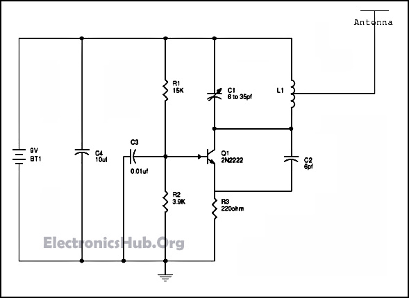 simple fm radio jammer circuit working and applications rh electronicshub org