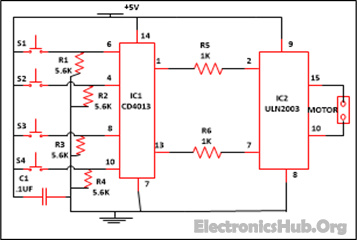 Curtain Opener and Closer Circuit Diagram