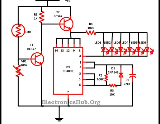 led christmas lights circuit diagram and working images