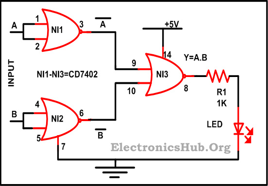 Design of Basic Logic Gates using NOR Gate NOT OR and