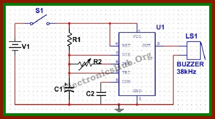 simple electronic mosquito repellent circuit rh electronicshub org mosquito repellent circuit diagram pdf mosquito repellent circuit block diagram