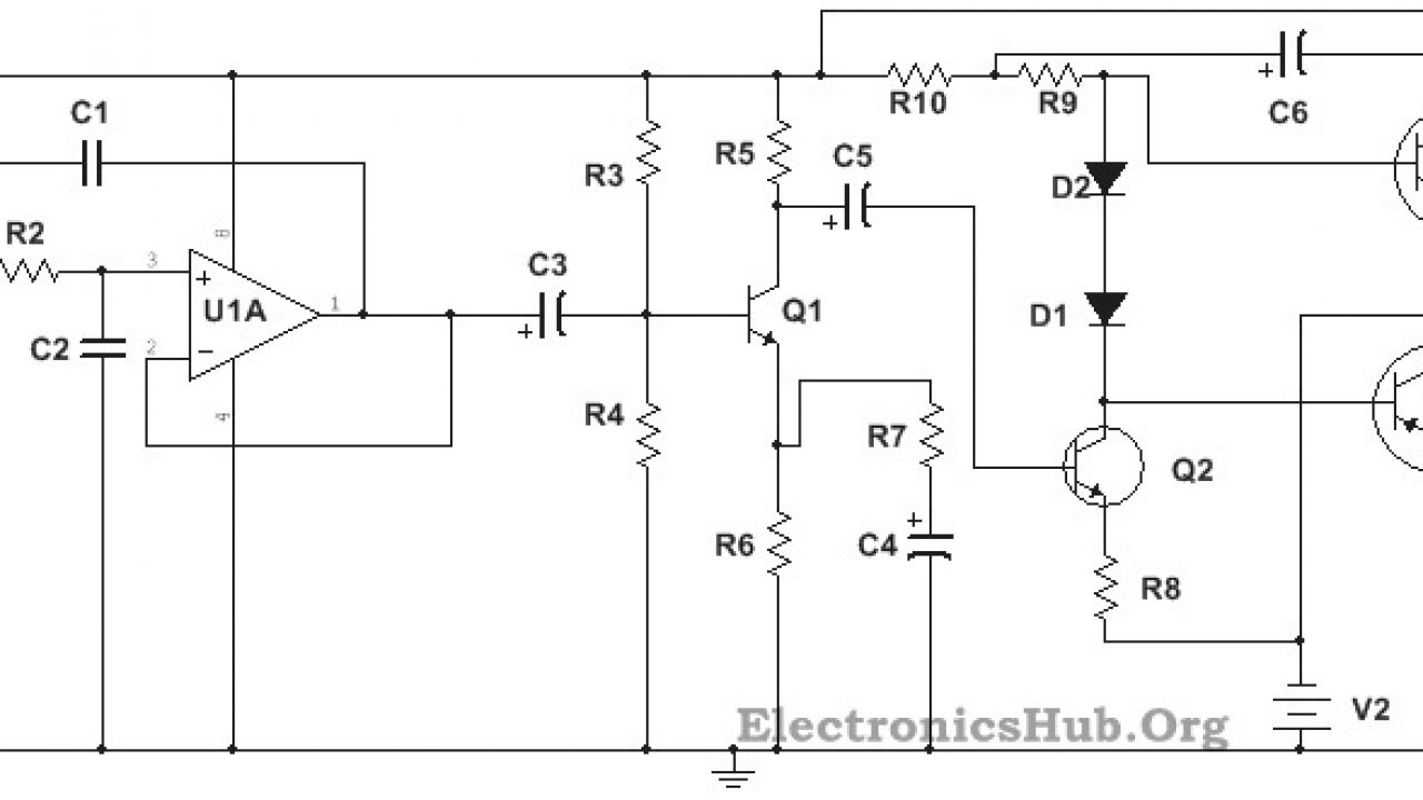 100W Subwoofer Amplifier Circuit Diagram, Working and ... on high power tube amplifier schematics, high power amplifier circuit diagram, 2sc5200 2sa1943 power amplifier circuit diagrams, vacuum tube audio amplifier circuit diagrams,
