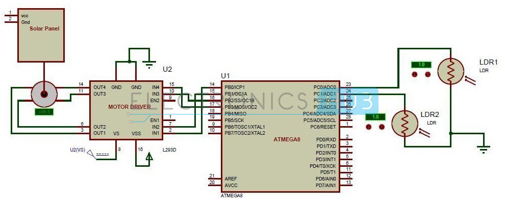 Circuit Diagram of Sun Tracking Solar Panel sun tracking solar panel project using microcontroller Solar Tracking System at arjmand.co