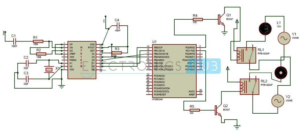 DTMF Based Home Automation System using Microcontroller