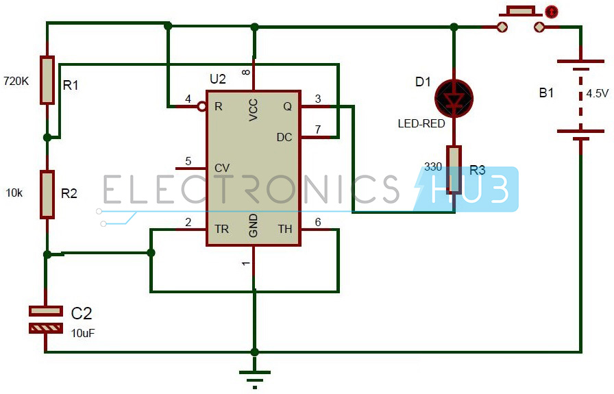 Dummy Alarm Circuit using 555 Timer IC