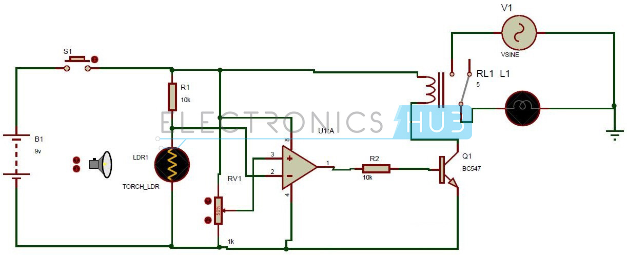 Light Operated Relay Circuit - Data SET •