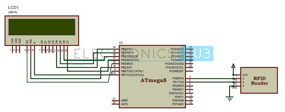 Rfid Based Attendance System Circuit Using Microcontroller