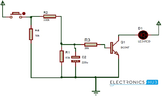 up down fading led lights circuit diagram how up down fading led lights circuit works? led circuit diagrams at mifinder.co