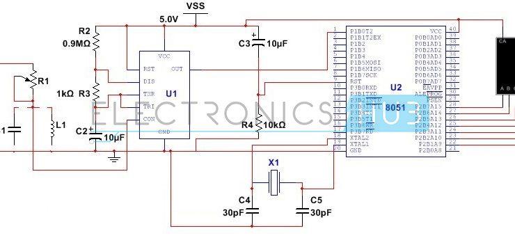 LC Meter Circuit using 555 Timer
