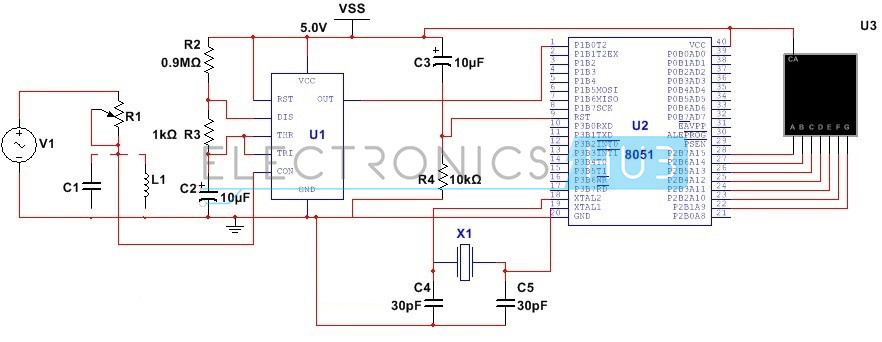 lc meter circuit using 555 timer rh electronicshub org Ultrasonic Welder LC Circuits Ads LC Circuit