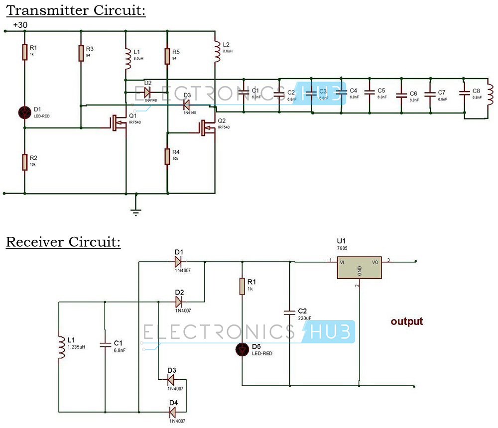 Wireless Power Transfer Circuit Mobile Charger Series Parallel Batteries Tutorial Circuits Diagram