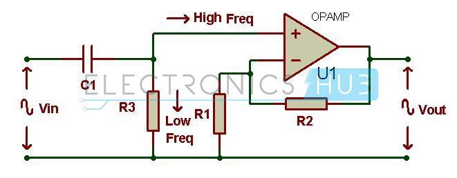 Active High Pass Filter Circuit Diagram
