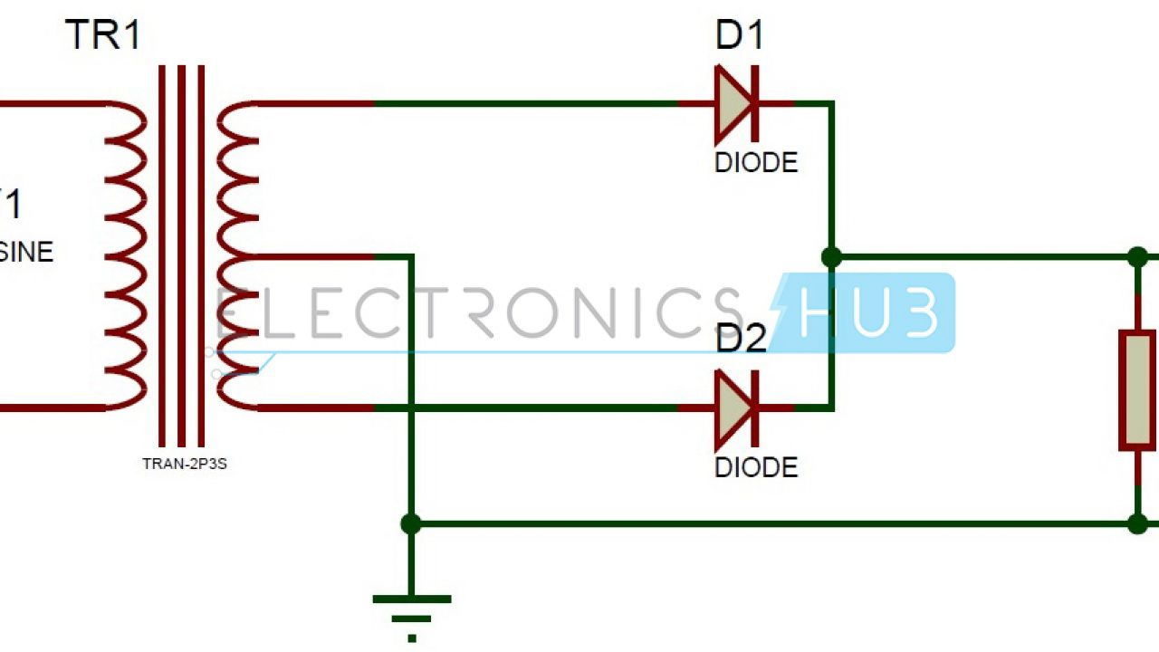 Do Diodes Work In A Circuit On Half Wave Rectifier Diode Schematic