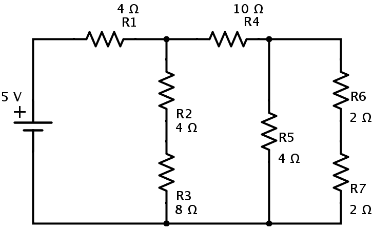 resistors in series and parallel example