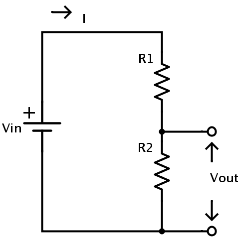 voltage divider circuitpotential difference in resistor