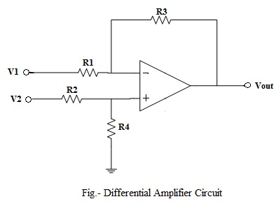 op amp differential amplifier circuit voltage subtractor rh electronicshub org explain differential amplifier with its circuit diagram