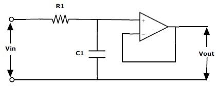 Fig: Filtro de paso bajo activo