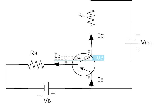 2. Conexión de circuito del transistor PNP