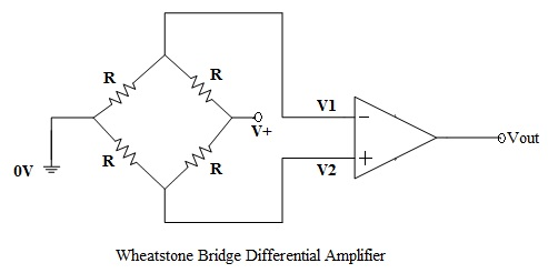 op amp differential amplifier circuit voltage subtractor